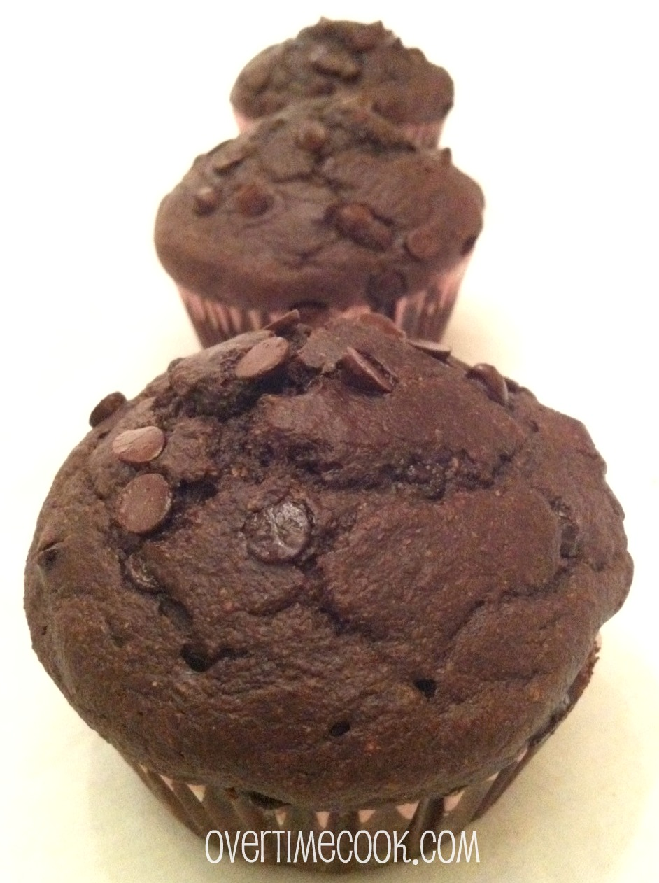 Honestly Healthy Double Chocolate Chip Muffins Overtime Cook