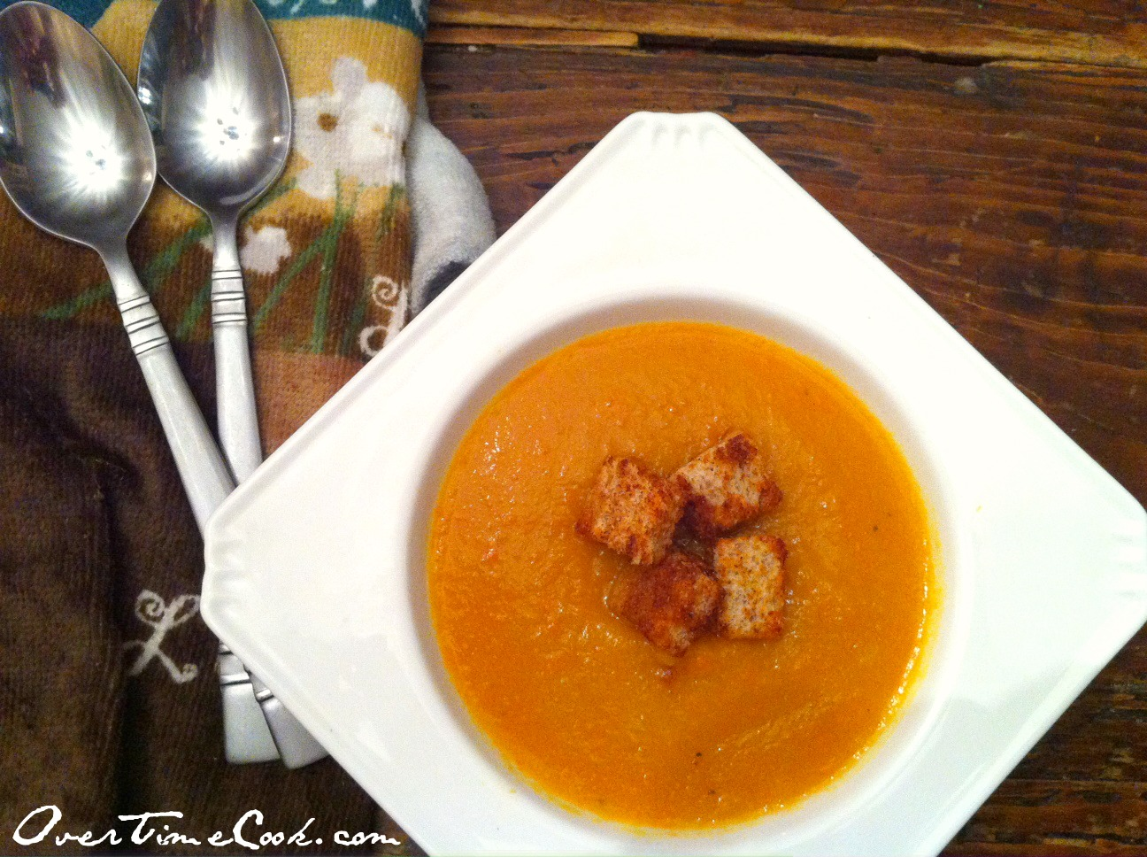 Creamy Orange Vegetable Soup - Overtime Cook