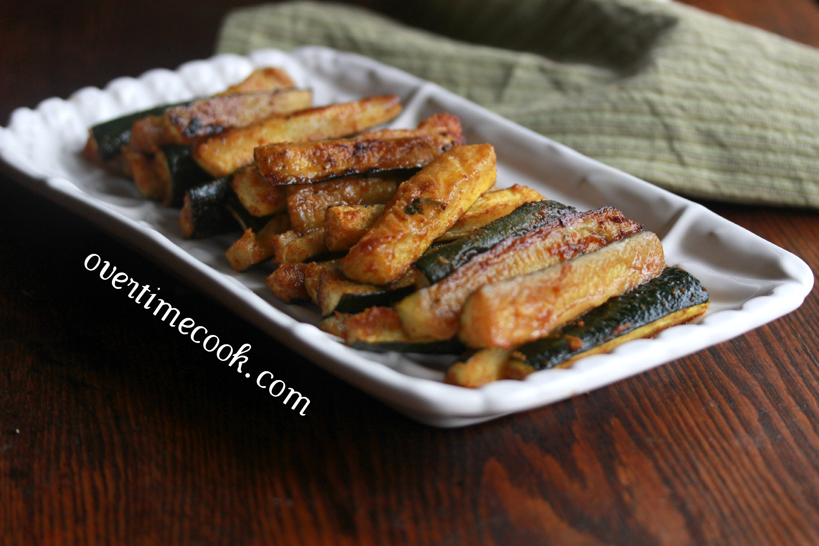 Spicy Baked Zucchini Sticks - Overtime Cook