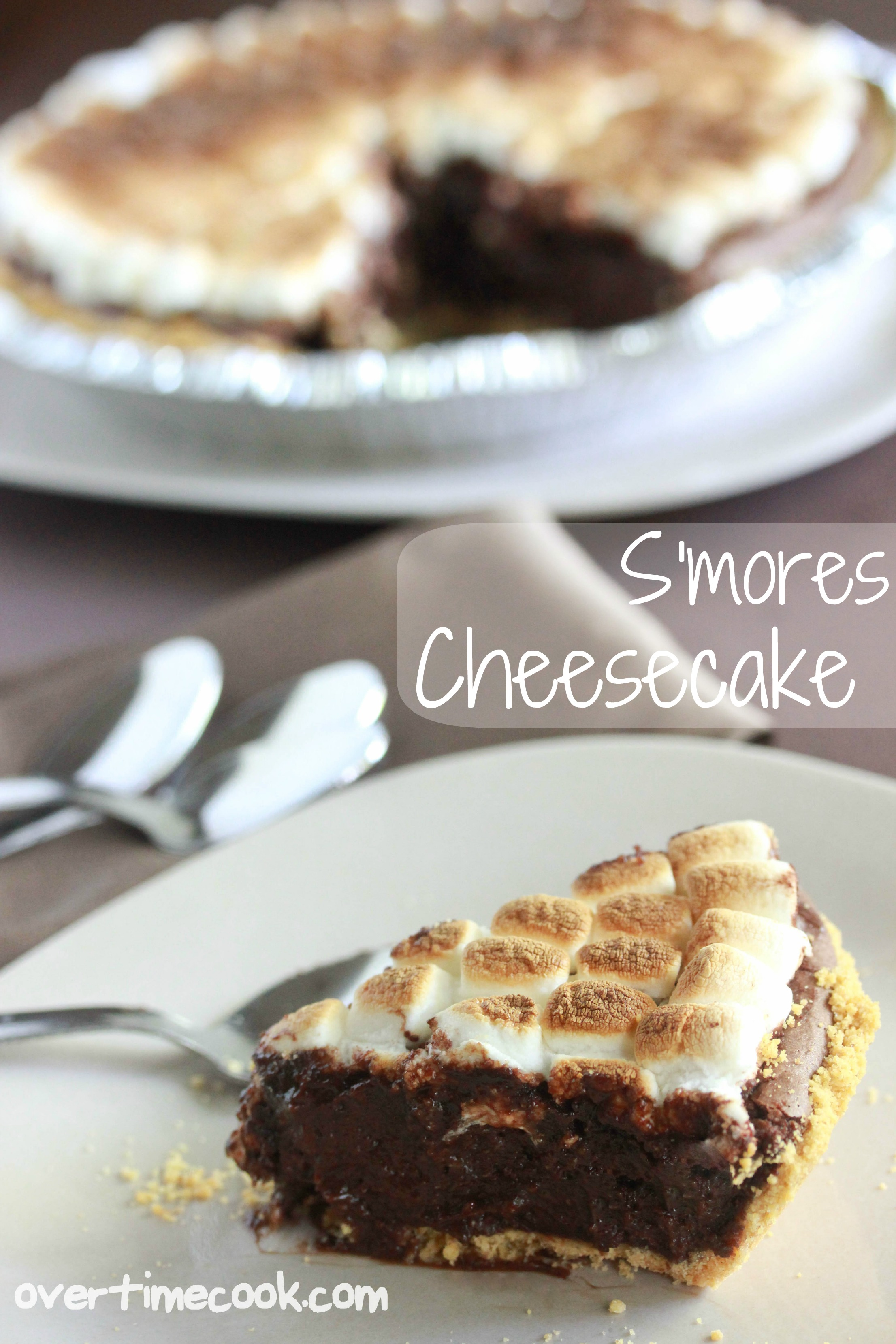 mores Cheesecake - Overtime Cook