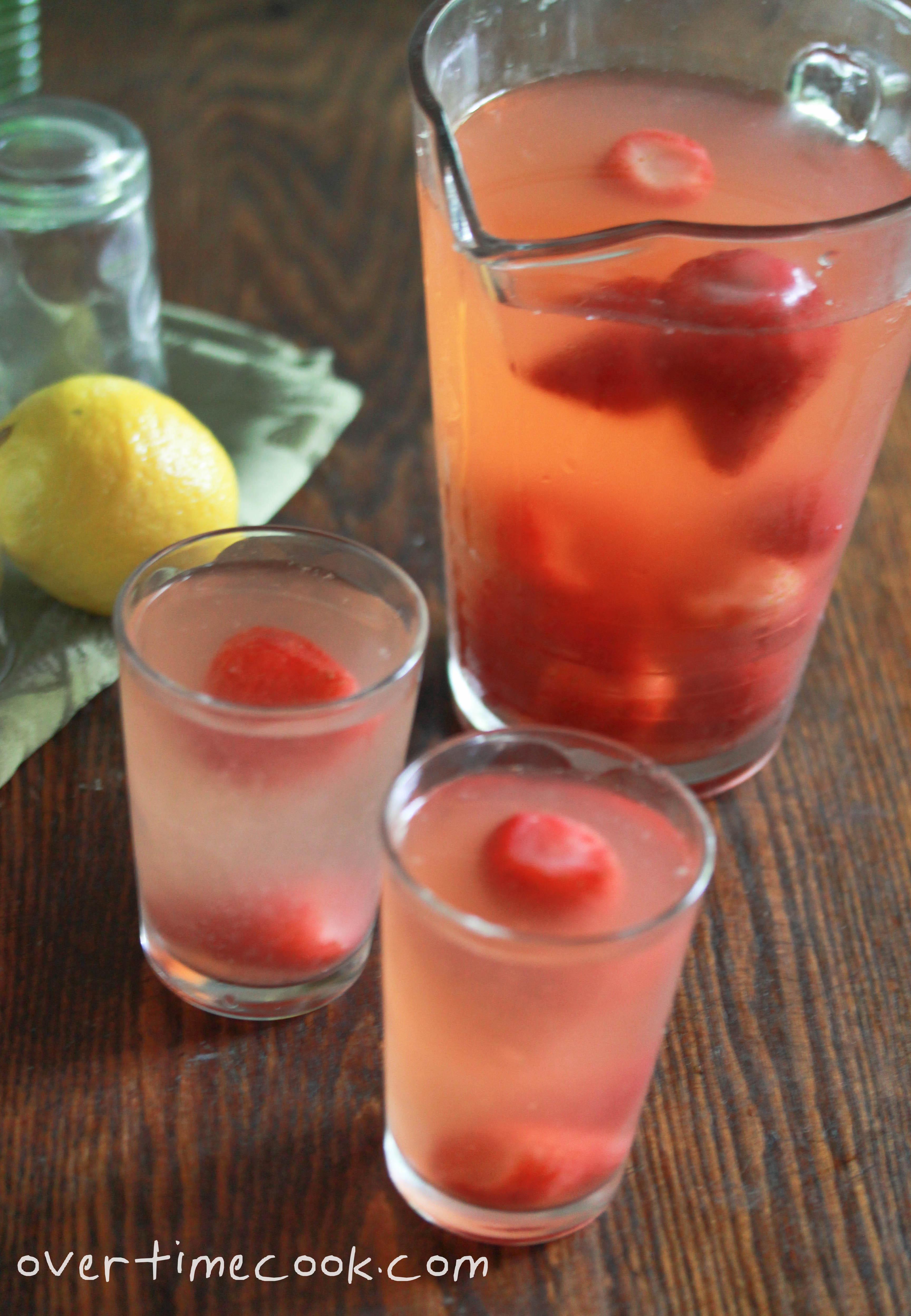Homemade Strawberry Lemonade - Overtime Cook
