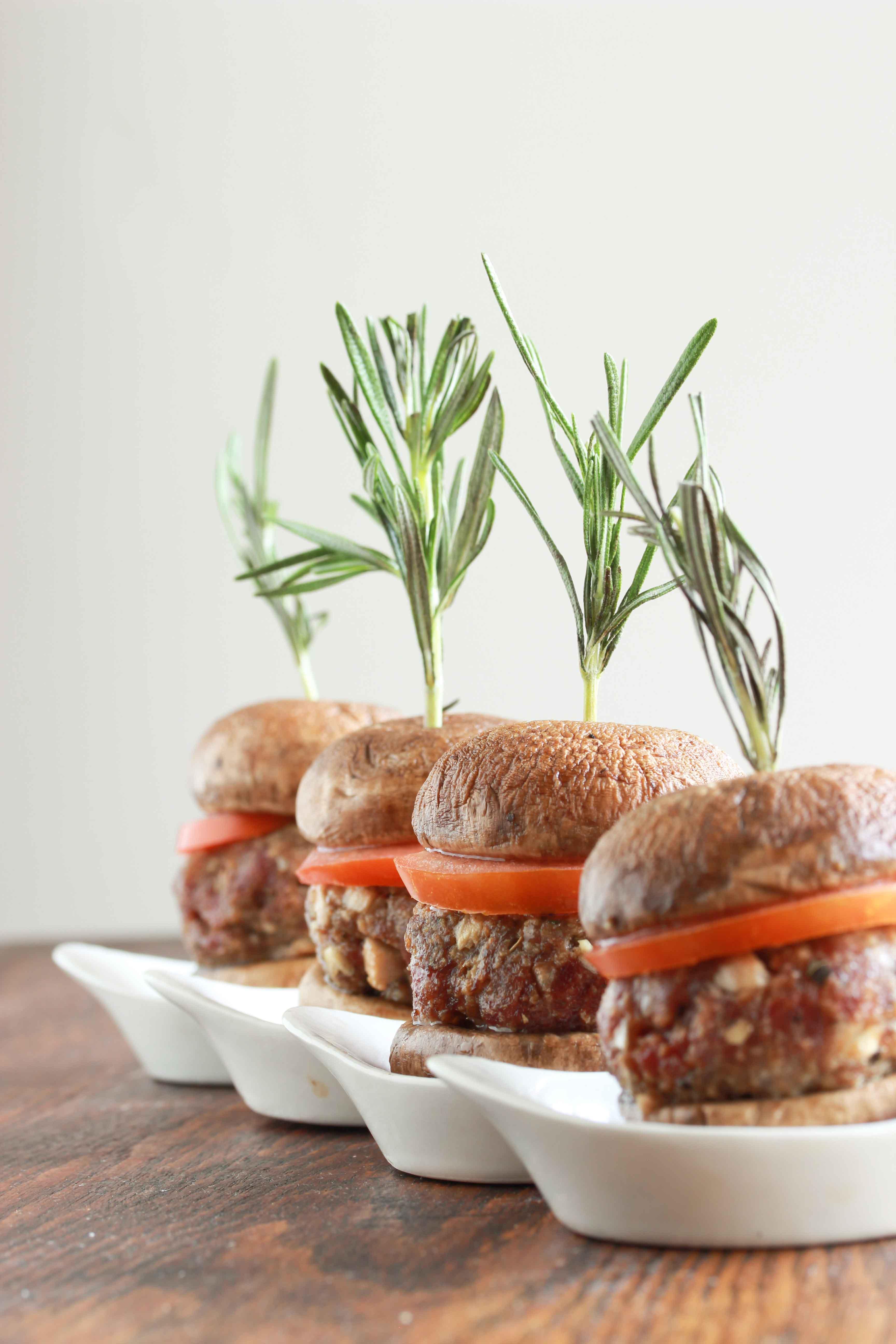 mushroom beef sliders