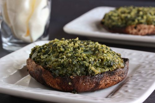 quinoa stuffed portobello mushrooms 1
