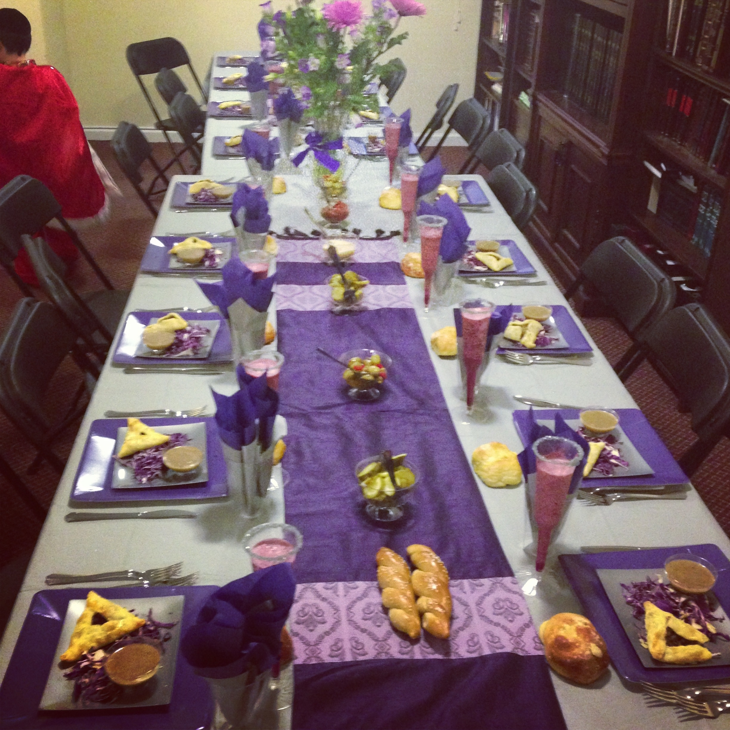 Purple and Silver Themed Party {Purim 2013} - Overtime Cook