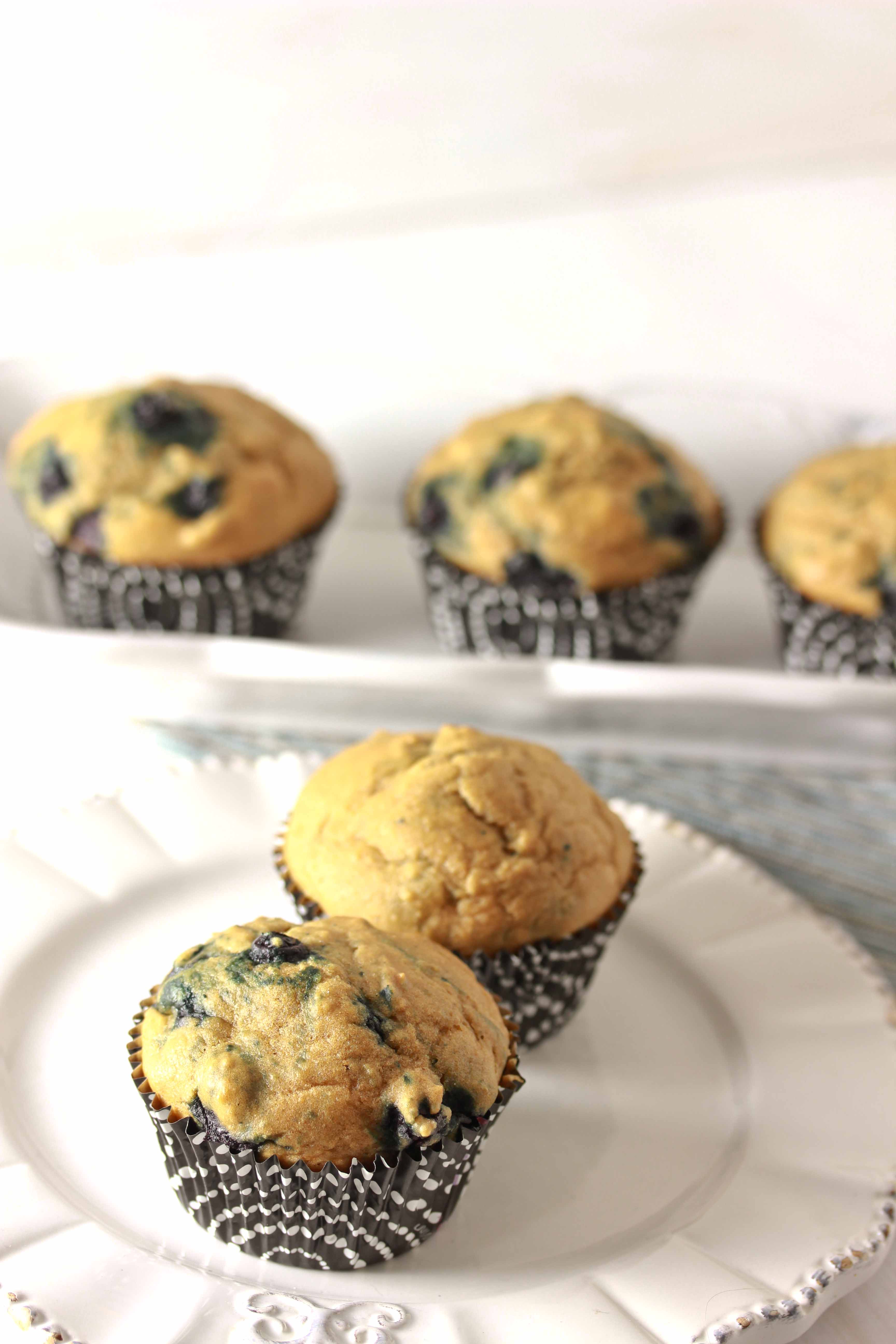 Healthy Blueberry Muffins - Overtime Cook