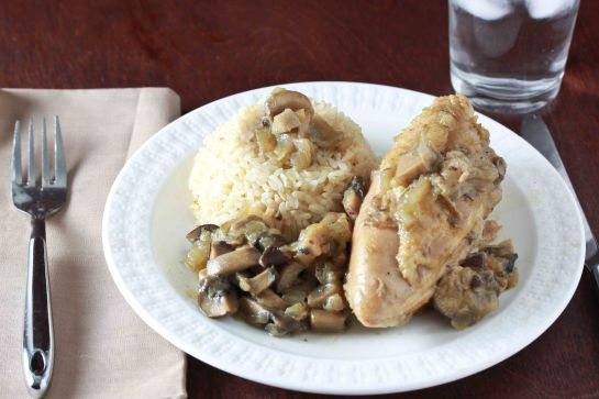 chicken with mushroom sauce 3