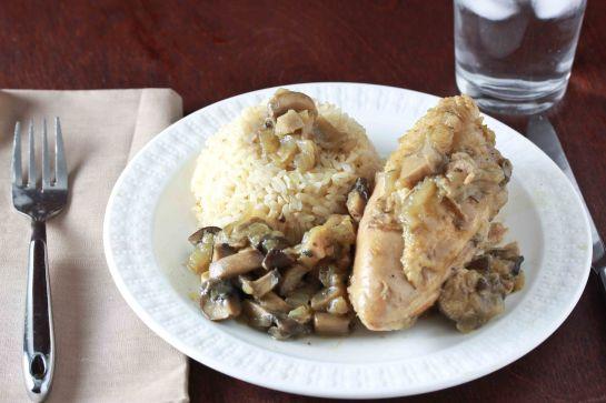 chicken with mushroom sauce 3