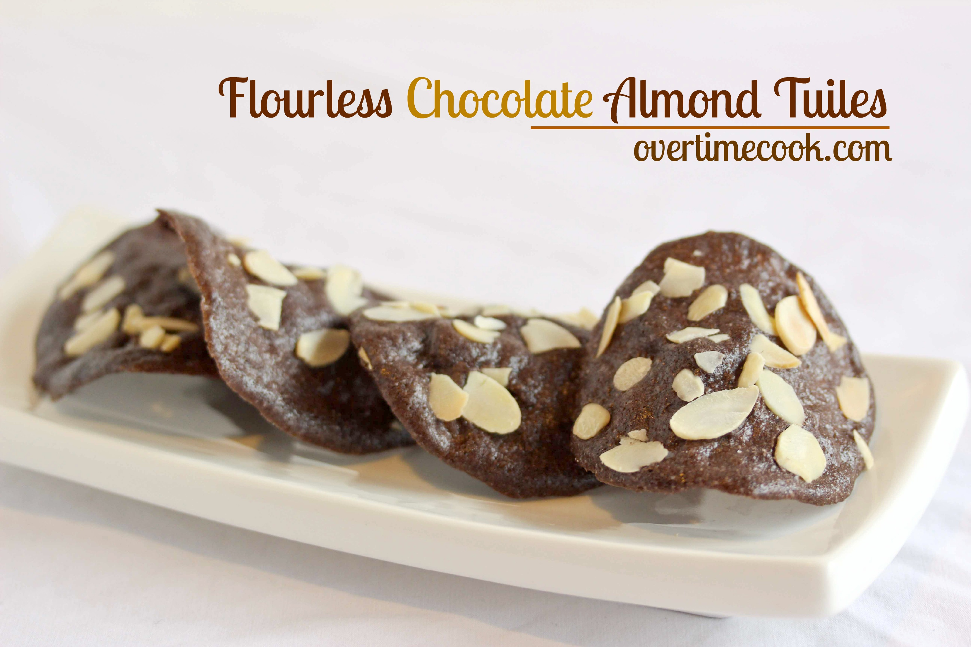chocolate almond tuiles on overtime cook