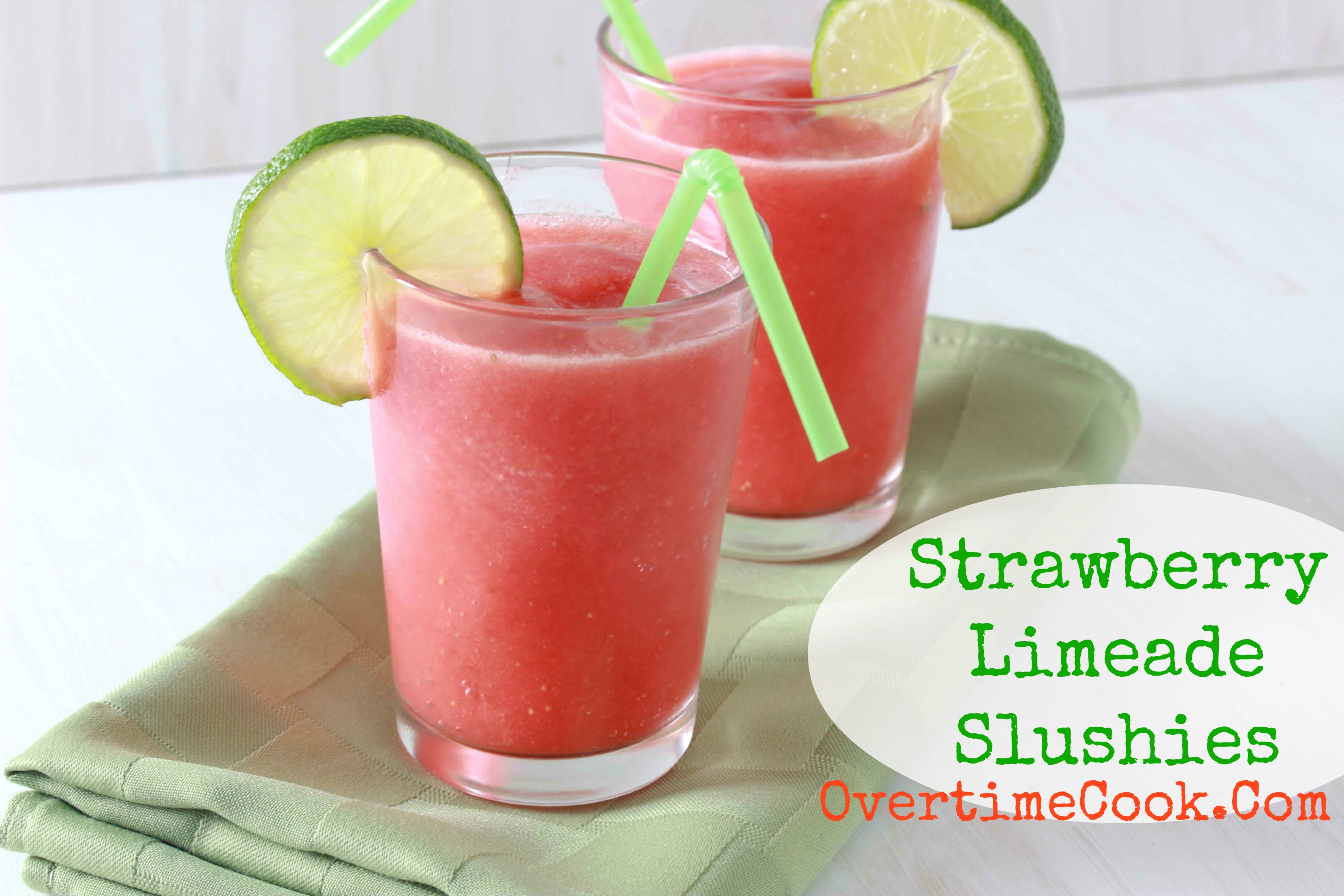 strawberry limeade slushies on overtime cook