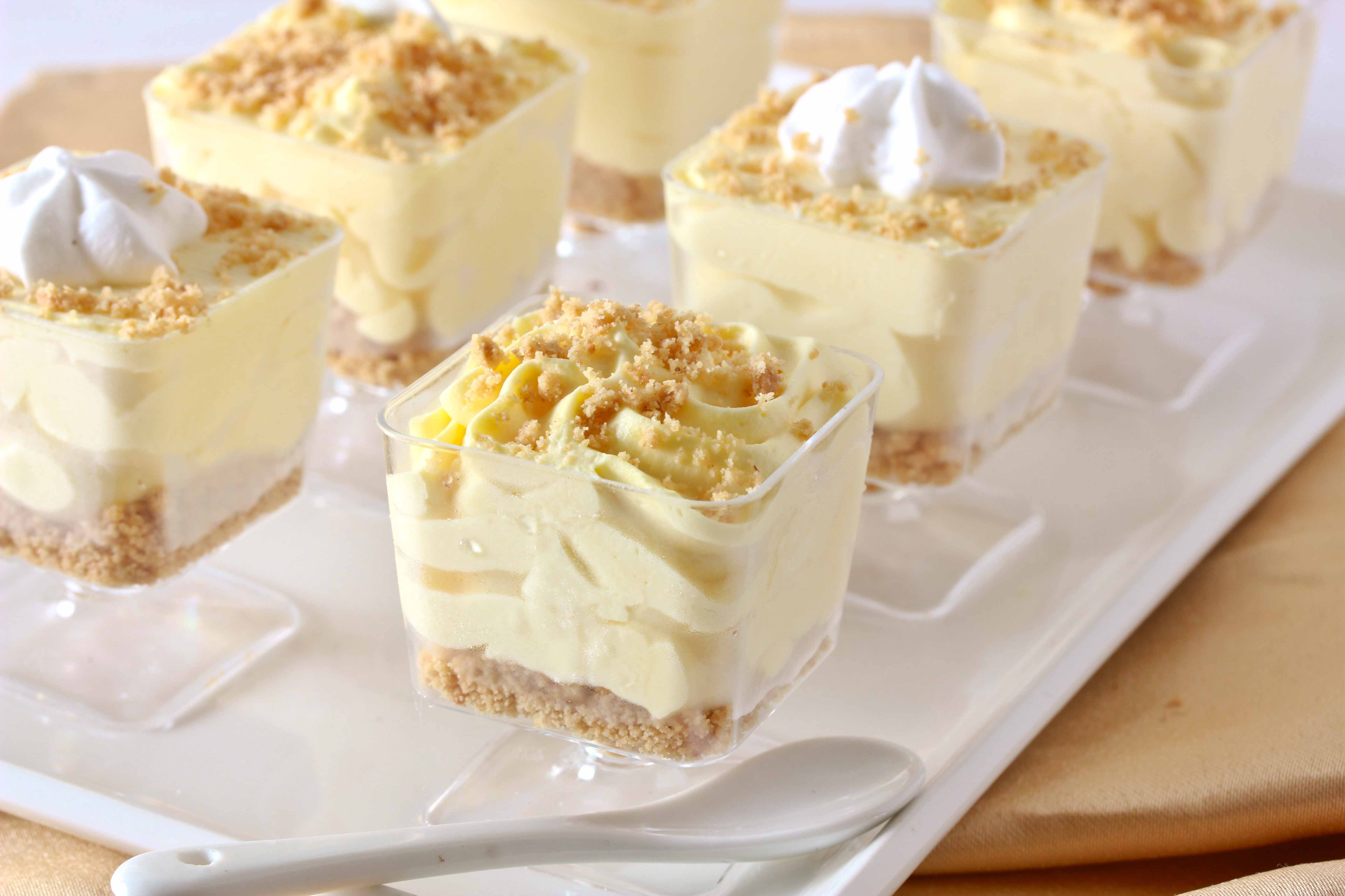 No Bake Lemon Cheesecake Mousse Cups Overtime Cook