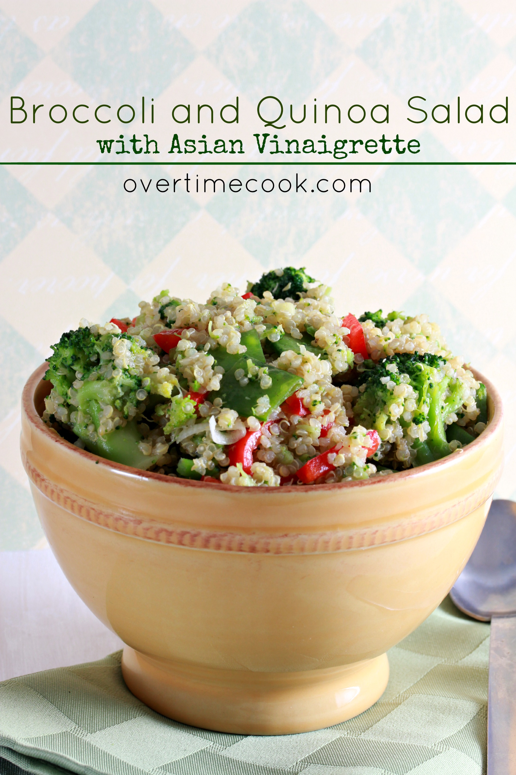Broccoli and quinoa salad with asian vinaigrette overtime cook broccoli and quinoa salad on overtime cook forumfinder Images