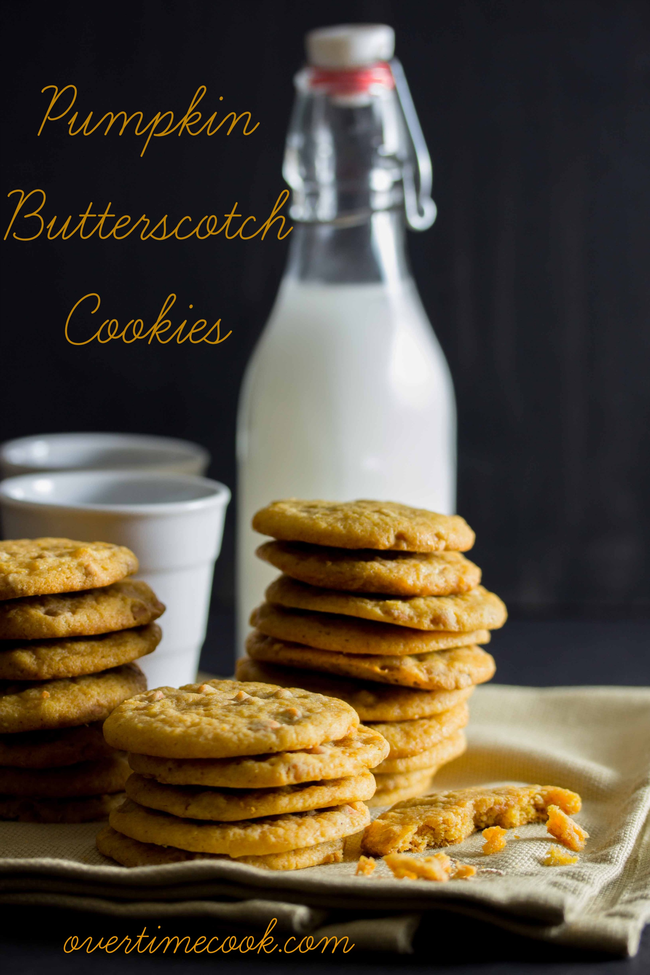 pumpkin butterscotch cookies on overtime cook